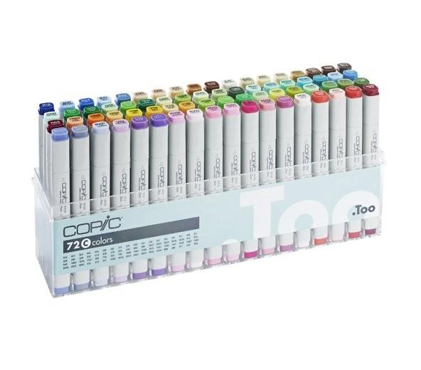 Copic markers, set C 72 kleuren
