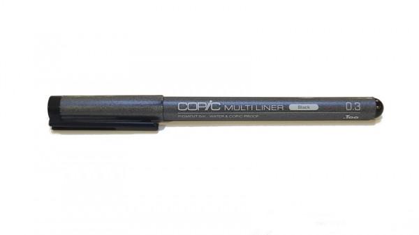 Copic Multiliner Classic zwart 0,3mm