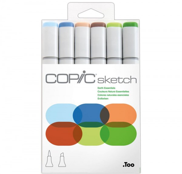 Copic Sketch 6 set - Earth Essentials