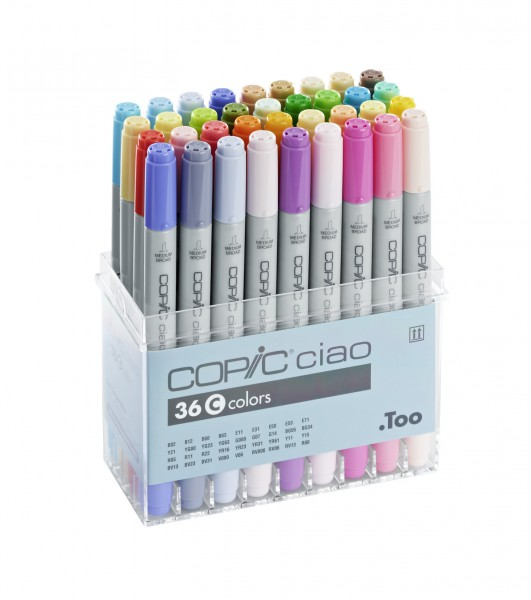 Copic Ciao set, 36 kleuren set C