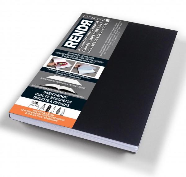 Zachtekaft - A6 Schetsboek Dummy - 9 x 14 cm Rendr