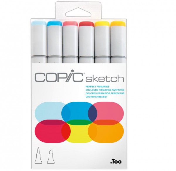 Copic Sketch 6 set - Perfect Primaries