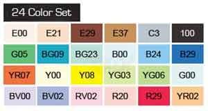 Copic Ciao set, 24 kleuren