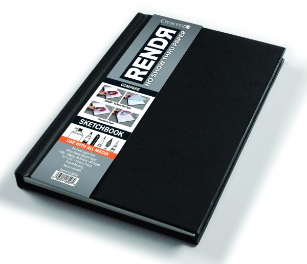 Harde kaft - A5 Schetsboek Dummy - 14 x 21,6 cm Rendr