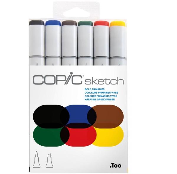 Copic Sketch 6 set - Bold Primaries