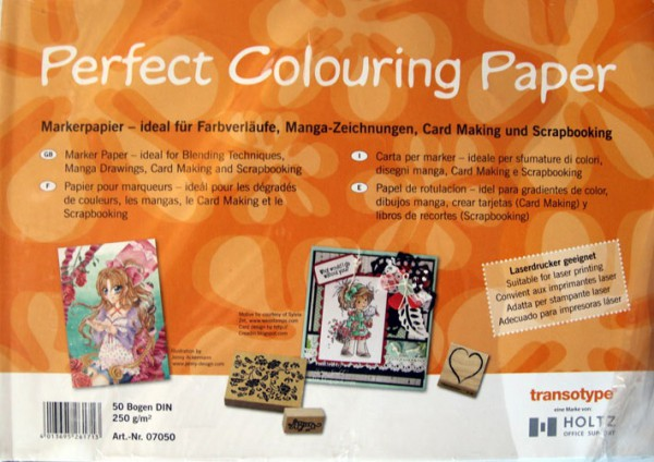 Perfect Colouring marker Paper 250gr 50 vel A4