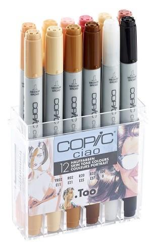 Copic Ciao set, 12 Huidskleuren Set