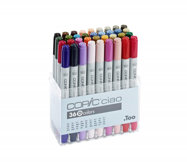 Copic Ciao set, 36 kleuren set D