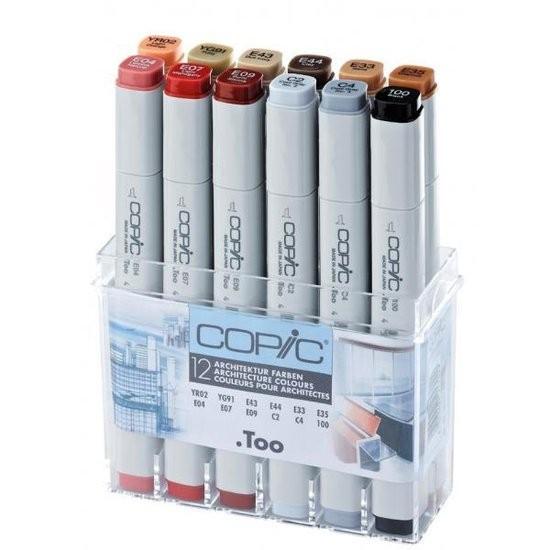Copic markers Architect 12 kleuren Set