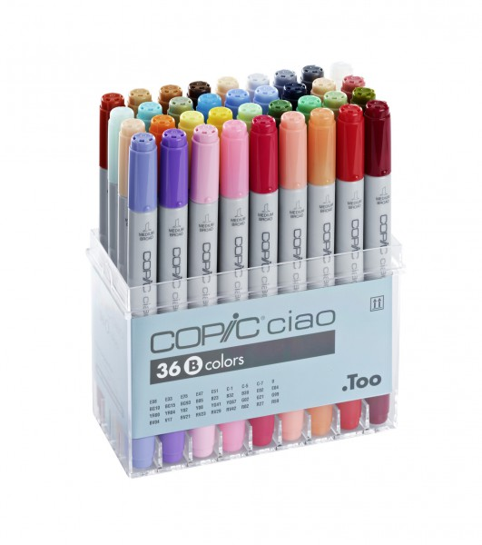Copic Ciao set, 36 kleuren set B