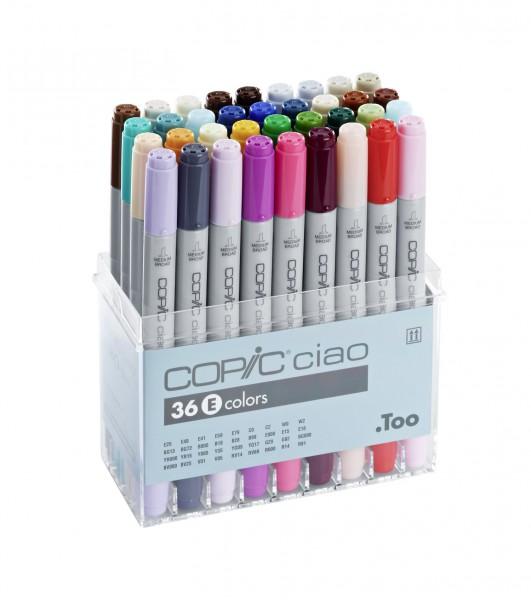 Copic Ciao set, 36 kleuren set E